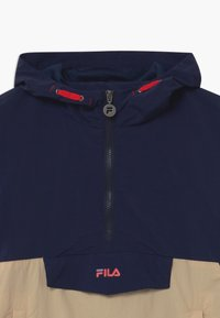 Fila - TILLI BLOCKED HOODED  - Training jacket - black iris/irish cream/sand verbena/grape leaf - 2