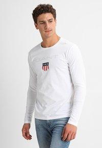 GANT - SHIELD - Long sleeved top - white - 0