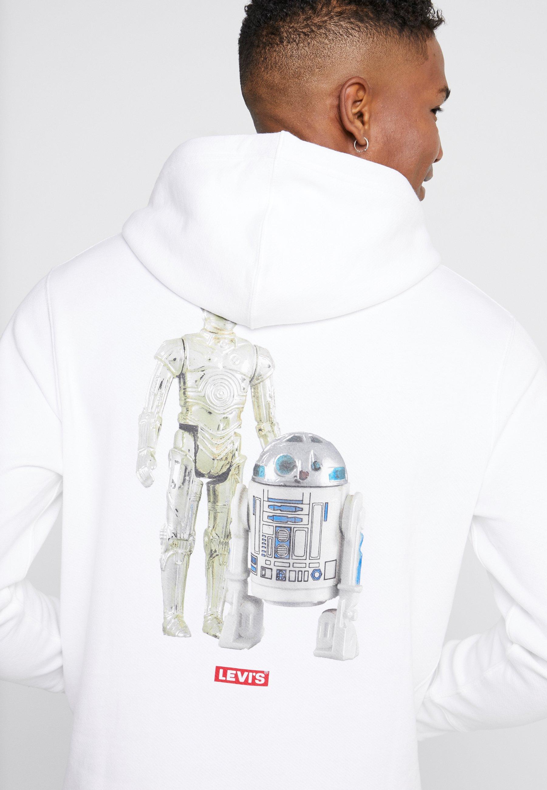 Kaikki Vuodenajat Saatavilla Miesten vaatteet Sarja dfKJIUp97454sfGHYHD Levi's® LEVI'S® X STAR WARS GRAPHIC PO HOODIE Huppari androids white