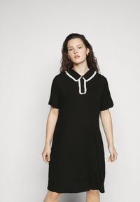 Glamorous Curve - GLAMOUROUS COLLAR DRESS - Day dress - black/white - 3