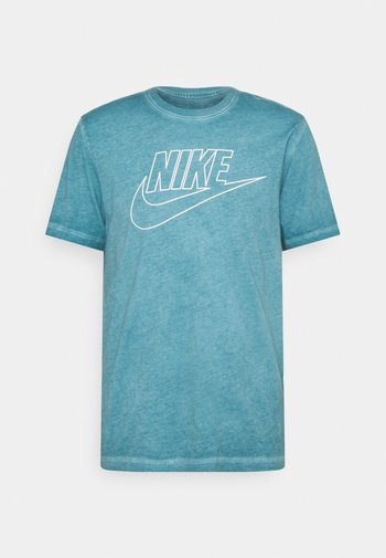 TEE DYE WASH - T-shirt med print - dark teal green