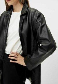 YAS - Leather jacket - black - 3