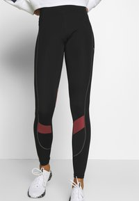 Puma - THE FIRST MILE ECLIPSE TIGHT - Tights - black/burnt russet - 0