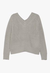 New Look 915 Generation - FRONT CROP JUMPER - Strikpullover /Striktrøjer - grey - 0