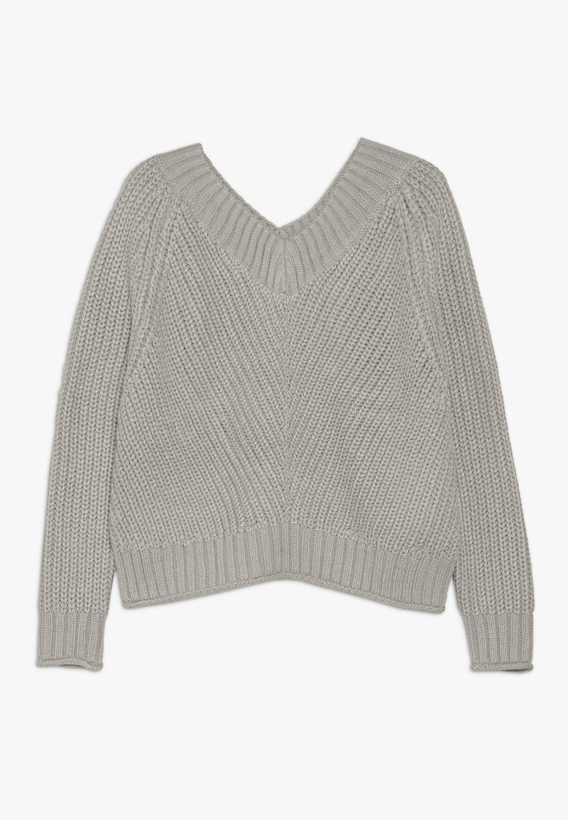 New Look 915 Generation - FRONT CROP JUMPER - Strikpullover /Striktrøjer - grey