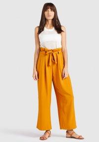 khujo - EIVOLA - Trousers - yellow - 1