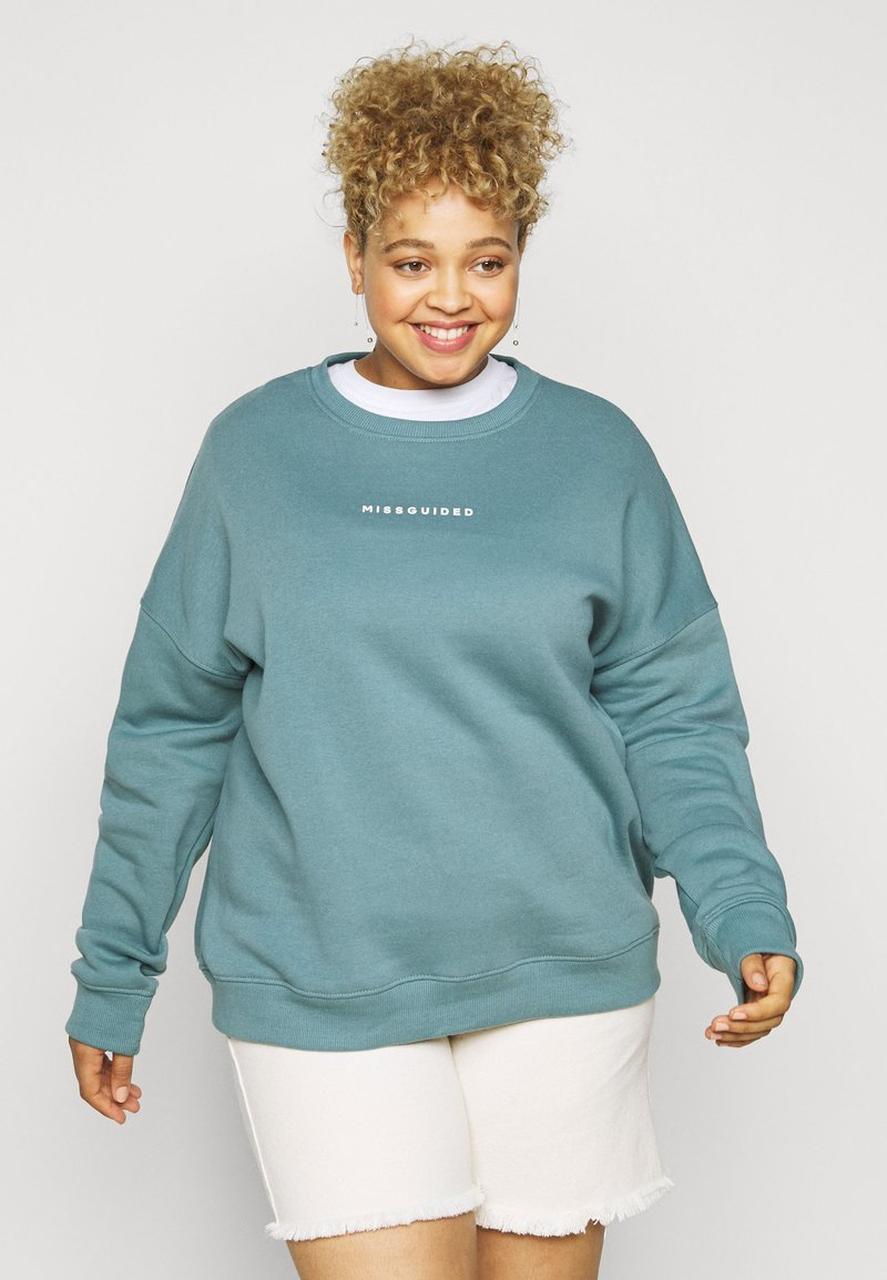 Missguided Plus - BASIC - Sweatshirt - blue