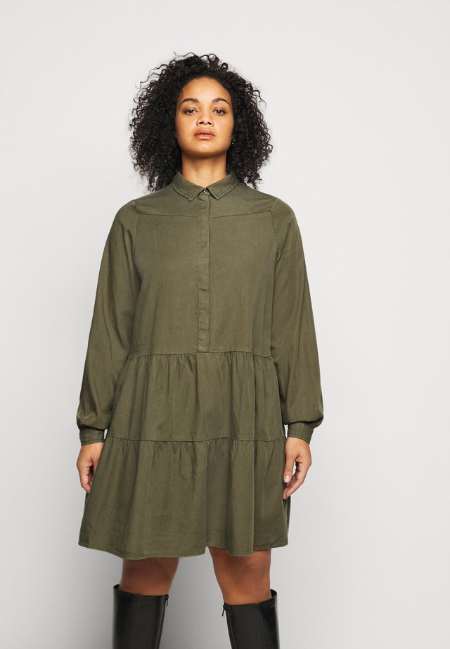 PCRIVER MIX DRESS - Shirt dress - grape leaf