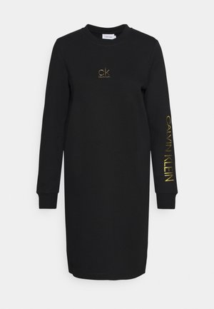 LOGO DRESS - Day dress - black