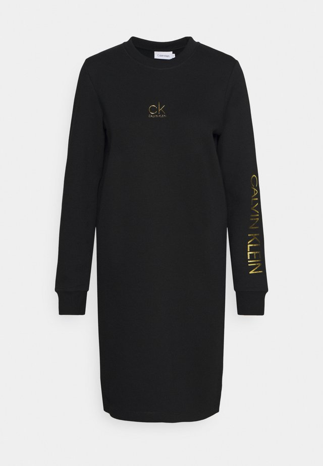 LOGO DRESS - Day dress - black