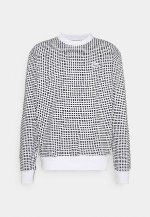 CLUB CREW GRID - Sweater - white
