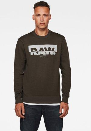 RAW BLOCK RASTER ROUND LONG SLEEVE - Sweatshirt - asfalt