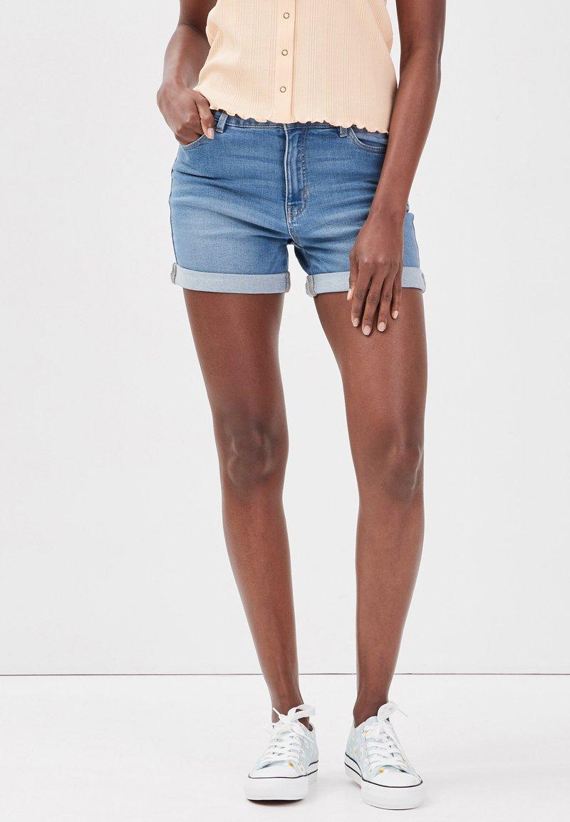 Cache Cache - Denim shorts - denim double stone
