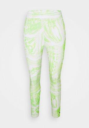 Leggings - Trousers - white/lemon twist
