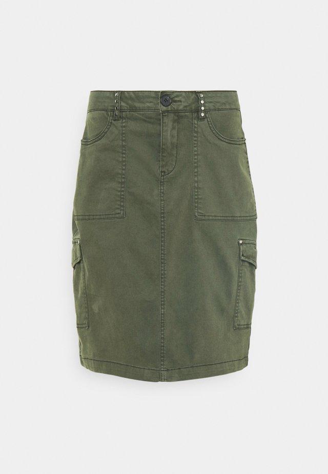 Áčková sukně - khaki