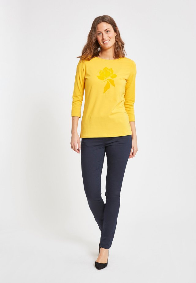 Long sleeved top - warm yellow