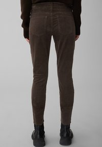Marc O'Polo - ALBY SLIM - Trousers - dark chocolate - 2
