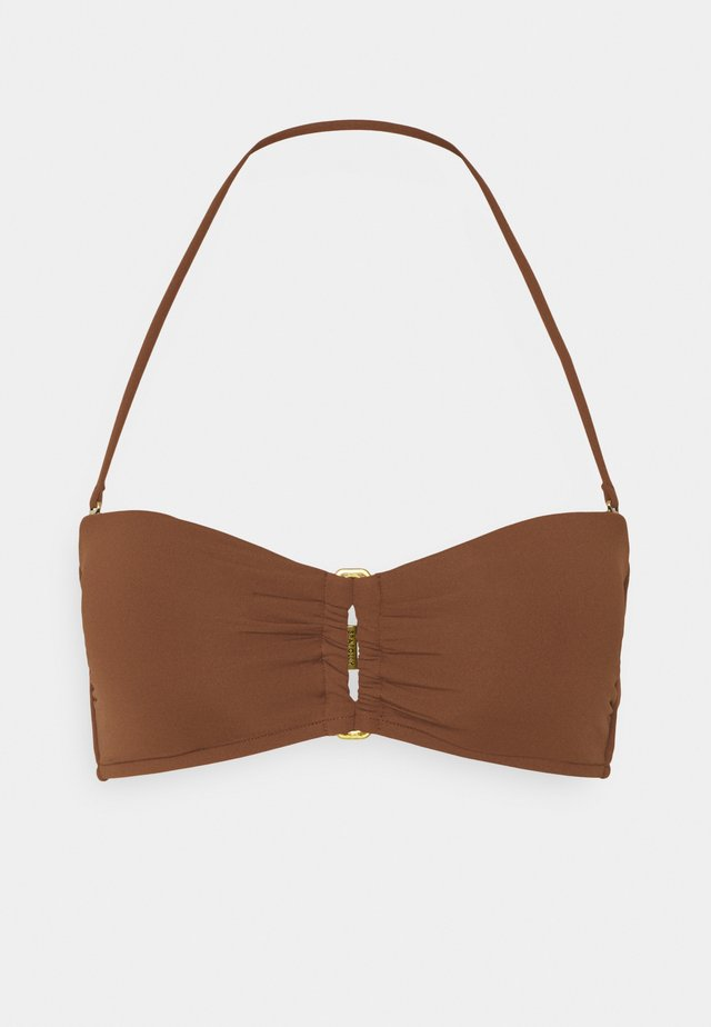 ACTIVE RECTANGLE TRIM BANDEAU - Bikini top - chocolate