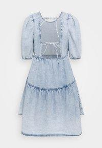 Gina Tricot - BABYDOLL DRESS - Denim dress - light blue - 7