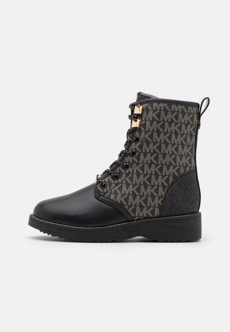 MICHAEL Michael Kors - HASKELL - Lace-up ankle boots - black/gold