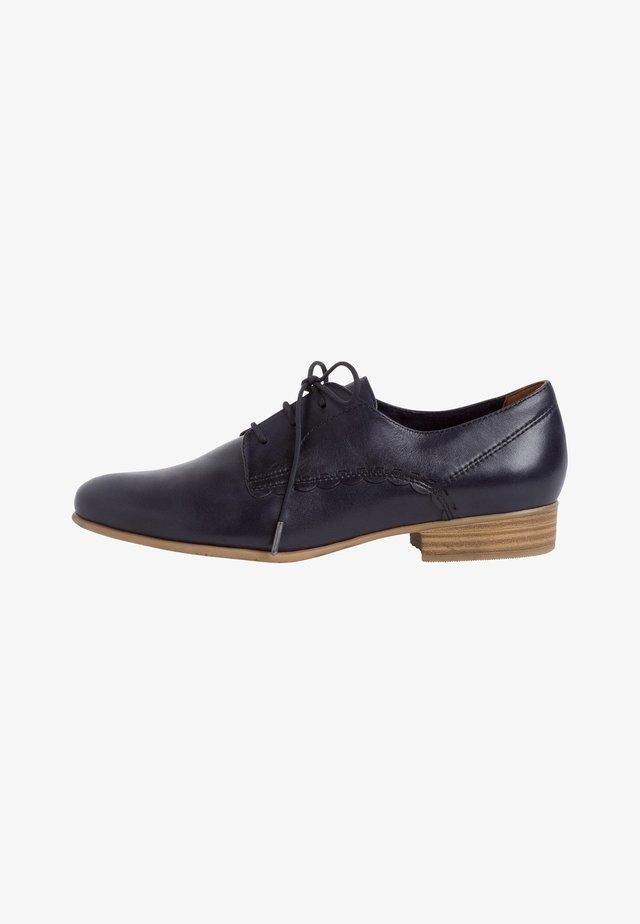 Veterschoenen - navy leather