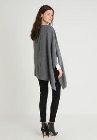 Part Two - KRISTANNA - Poncho - medium grey - 2