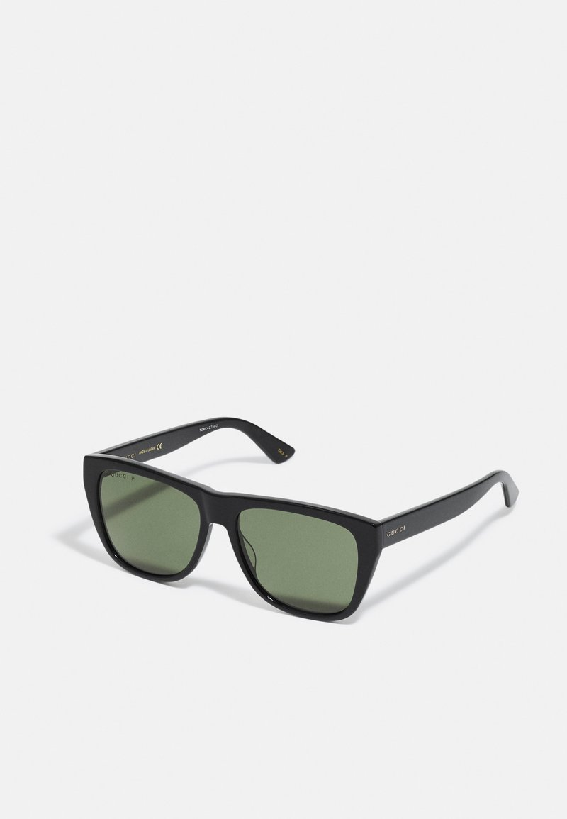 Gucci - UNISEX - Sunglasses - black/black/green