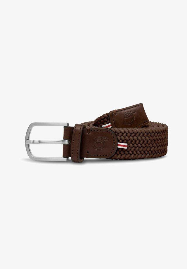 FLORENCE - Braided belt - brown