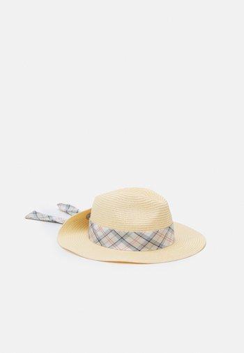 LORNE TARTAN FEDORA - Hat - cream