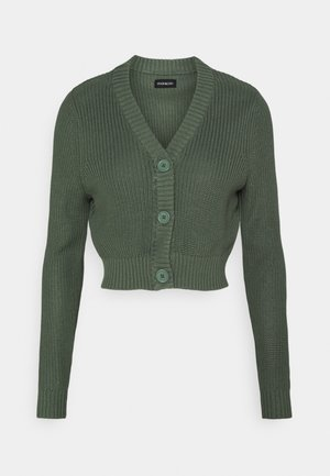 CROPPED CARDIGAN - Kardigan - green