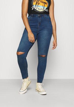LAWLESS SLASH KNEE HIGHWAISTED - Jeans Skinny Fit - blue