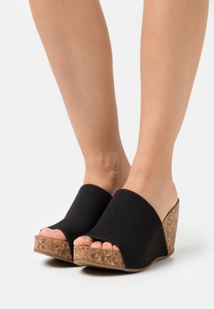 HAXY4EARTH - Heeled mules - blacksands