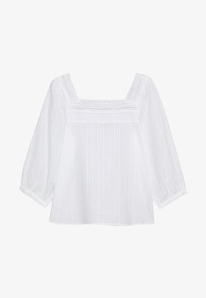 GITTY 3/4 TOP - Bluser - whisper white