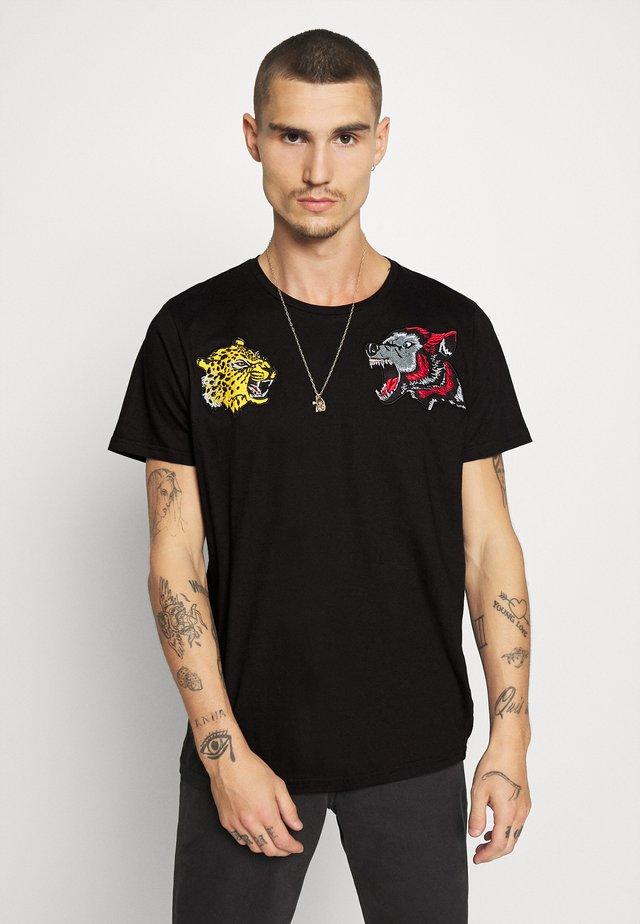 Camiseta estampada - jet black