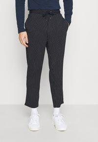 Casual Friday - PIERRE STRIPE PANTS - Trousers - navy blazer - 0