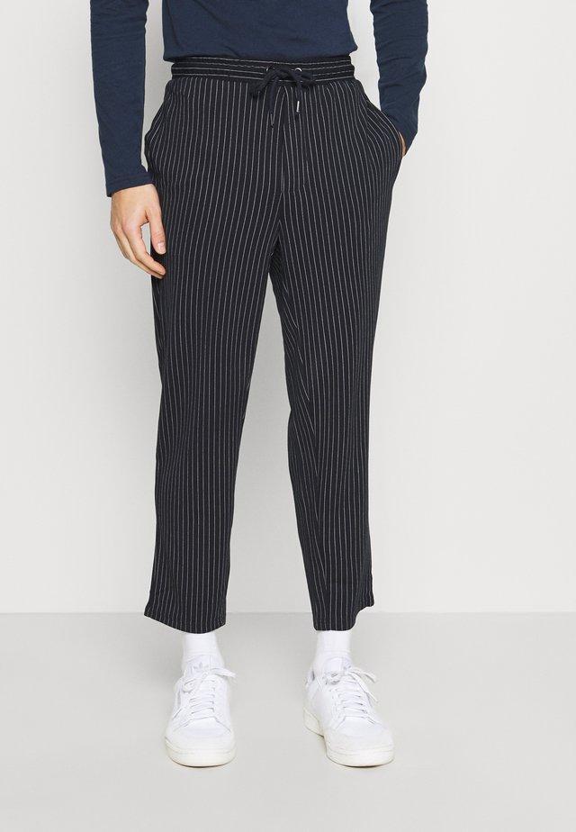 PIERRE STRIPE PANTS - Trousers - navy blazer