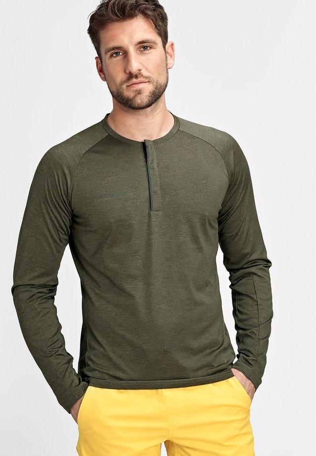 CRASHIANO - T-shirt à manches longues - iguana melange