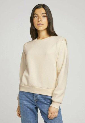 Sweatshirt - soft creme beige