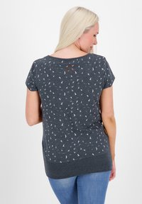 alife & kickin - COCOAK - Print T-shirt - marine - 2