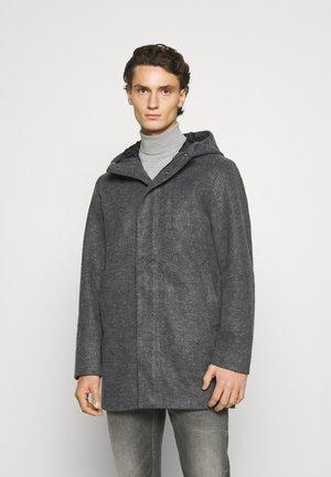 JJGEORGE HOODED COAT - Classic coat - dark grey