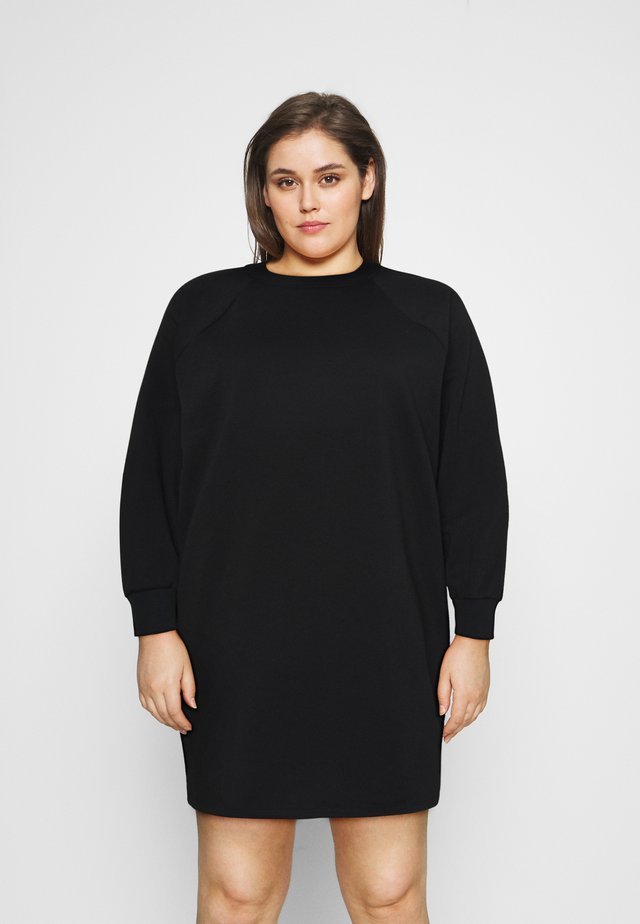NMLUPA DRESS CURVE - Korte jurk - black
