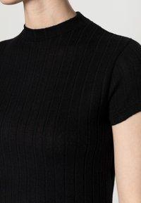 Cotton On - MOCK NECK TEXTURE SHORT SLEEVE - Print T-shirt - black - 4