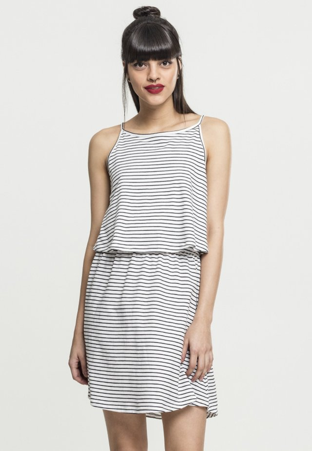 Jersey dress - white/black