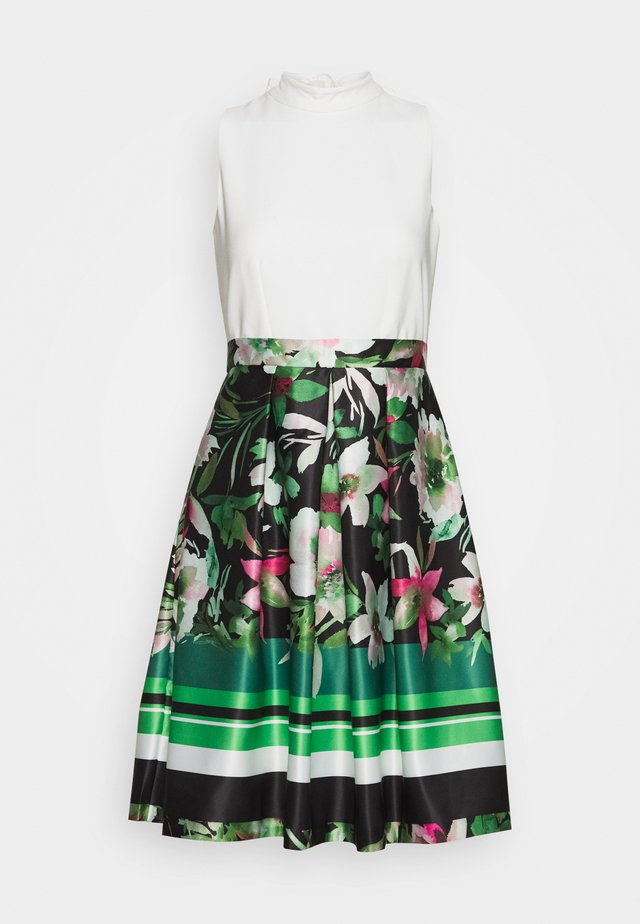 V NECK DRESS - Cocktail dress / Party dress - green