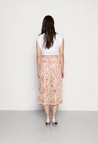 Rich & Royal - PLISSEE SKIRT - Pleated skirt - white stone - 2