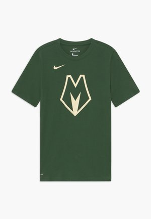 NBA MILWAUKEE BUCKS CITY EDITION LOGO TEE - Squadra - flat opal