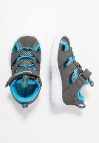 KangaROOS - KI-ROCK LITE - Sandalen - steel grey/brillant blue - 0