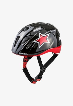 XIMO FLASH - Helmet - black-red-white star