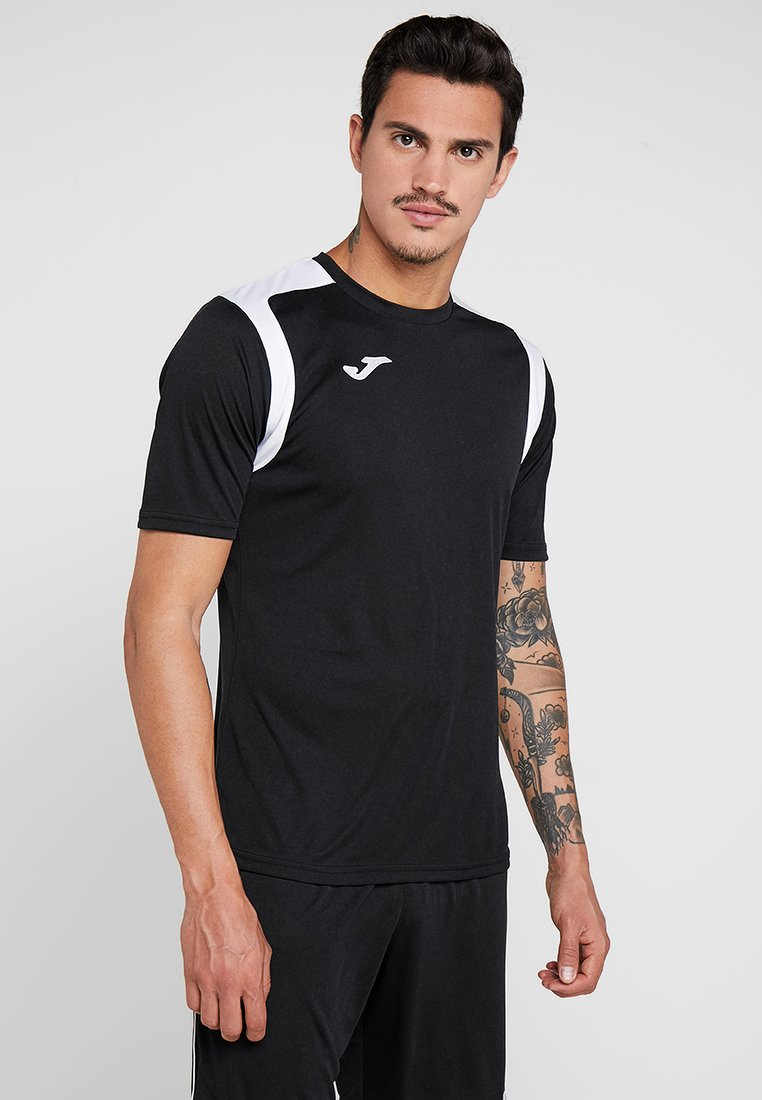 Joma - CHAMPION - T-shirt imprimé - black/white