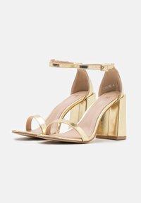 RAID - LORAINE - Sandály na vysokém podpatku - gold - 2